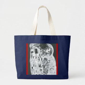 Lovers… (Homage has Gustave Klimt) Jumbo Tote Bag