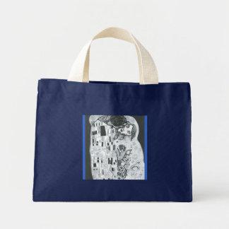 Lovers… (Homage has Gustave Klimt) Mini Tote Bag