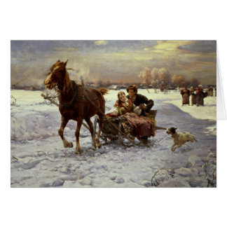 Lovers in a sleigh card