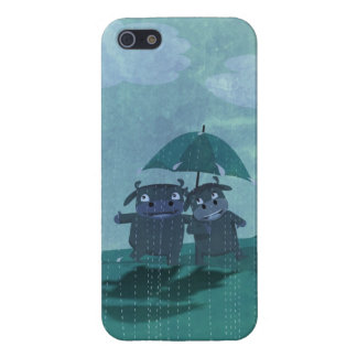 Lovers in the rain case for the iPhone 5