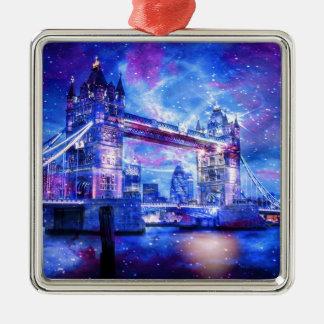 Lover's London Dreams Silver-Colored Square Decoration