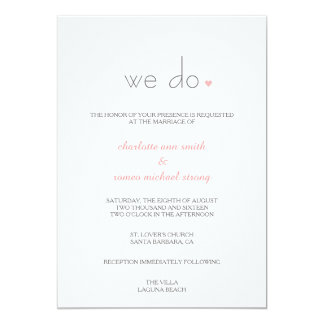 {Lover's} Modern Wedding Invitation