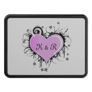 Lovers Monogrammed Trailer Hitch Cover Hitch Cover