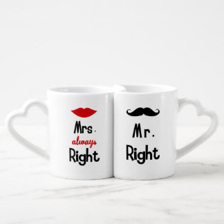 Lovers Mug Mr & Mrs Always Right