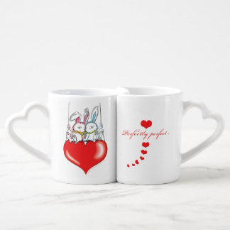 Lover's Mug: Perfectly perfect together bunnies Coffee Mug Set