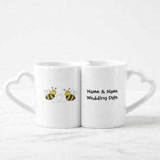 Lovers' Mug Set Customized Name & Wedding Date