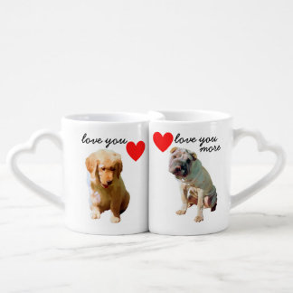 Lovers' Mug Set - Dog with Hearts