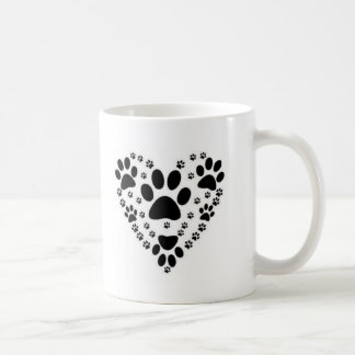 Lovers of animals footprints coffee mug