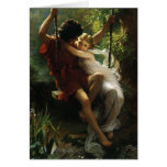 Lovers on a Swing. Spring by Pierre Auguste Cot Greeting Cards