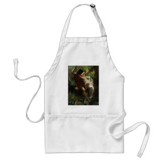 Lovers on a Swing. Spring by Pierre Auguste Cot Standard Apron
