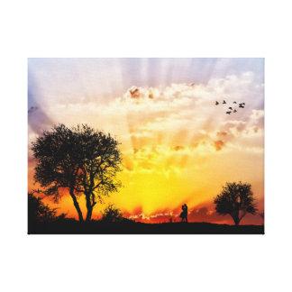 Lover's Sun Burst Canvas Print