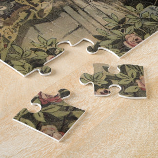 Lovers Under Umbrella Jigsaw Puzzle