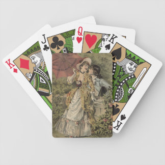 Lovers Under Umbrella Poker Deck
