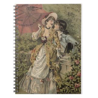 Lovers Under Umbrella Spiral Notebook