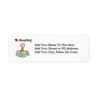 Loves Boating Return Address Label