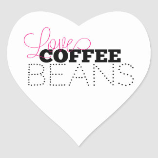 Loves Coffee Beans Stickers