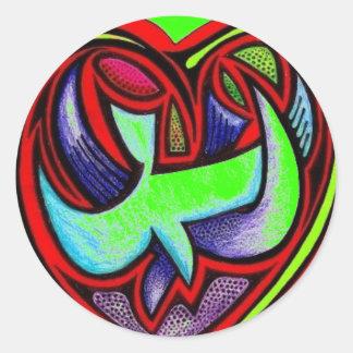 Love's Full Heart - Customized Classic Round Sticker