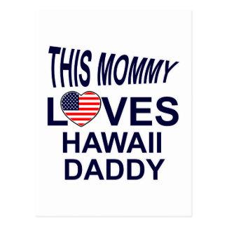 loves Hawaii daddy Postcard