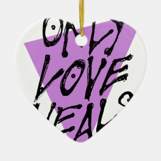 LOVES-HEAL CERAMIC HEART DECORATION