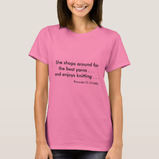Loves Knitting t-shirt