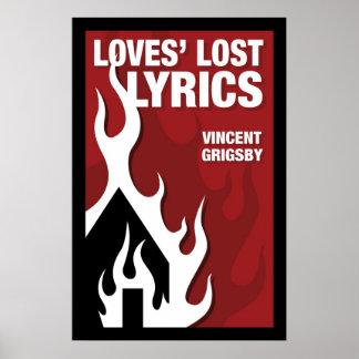 Loves Lost Lyrics Print