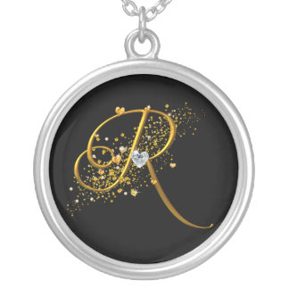 Love's Magic R Initial Silver Plated Necklace