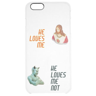 """Loves Me…"" iPhone Clearly™ Deflector Case"