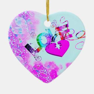 Love's Puzzle Heart Ornament