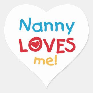 LOVESMEnanny Heart Sticker