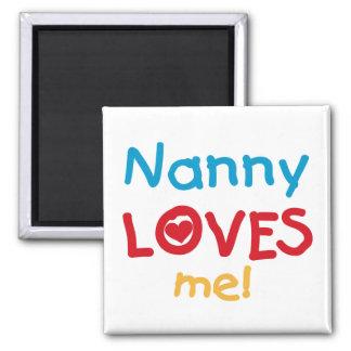 LOVESMEnanny Square Magnet