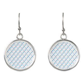 Lovesome Blue and White Star of David Earrings