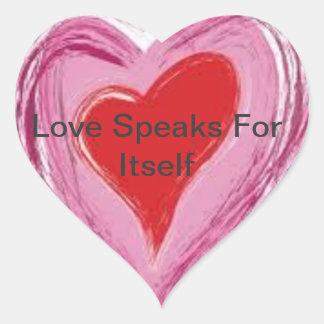 LoveSpeaksForItself Sticker!! Heart Sticker
