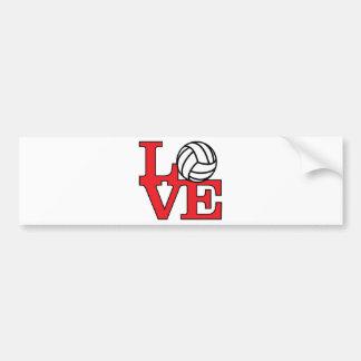LoveVB-red Bumper Stickers