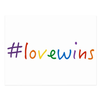 #lovewins love wins gay marriage equality pride postcard