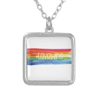 #LoveWins Silver Plated Necklace