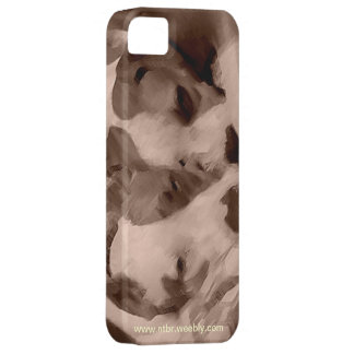 Lovey Dovey Pit Bulls iPhone 5 Case
