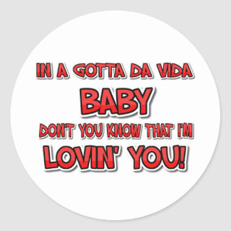 Lovi' You Classic Round Sticker