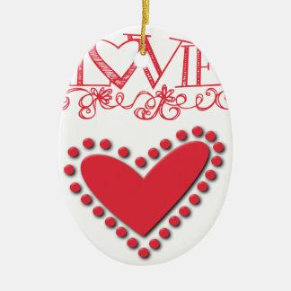 lovie ceramic ornament