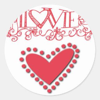 lovie classic round sticker
