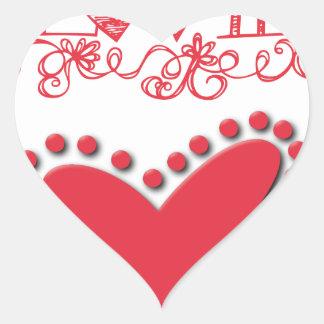 lovie heart sticker