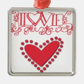 lovie metal ornament