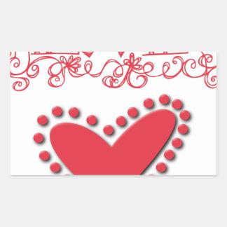 lovie rectangular sticker
