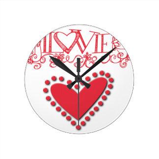lovie round clock