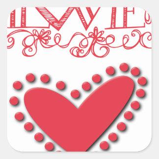 lovie square sticker