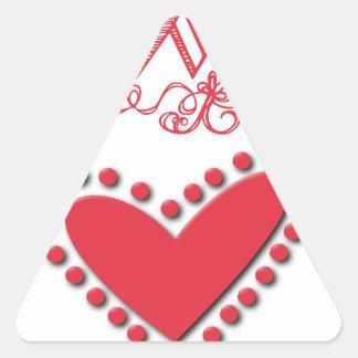 lovie triangle sticker