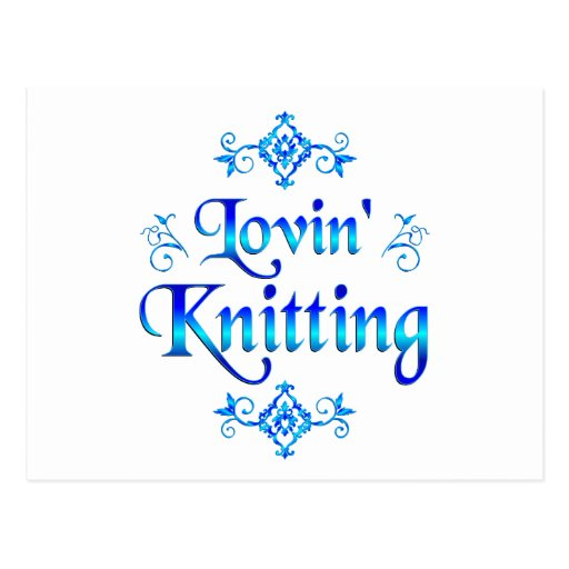 Lovin Knitting Postcard
