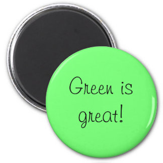 lovin lime green 6 cm round magnet