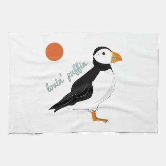 Lovin Puffin Tea Towel