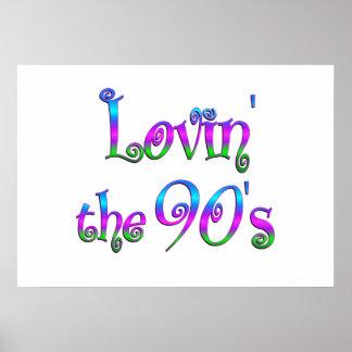 Lovin the 90s poster