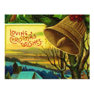 loving christmas wishes postcard